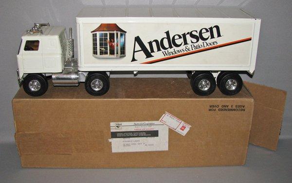 16: BOXED ANDERSEN WINDOWS TRACTOR TRAILER