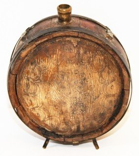 DRUM STYLE WOOD CANTEEN