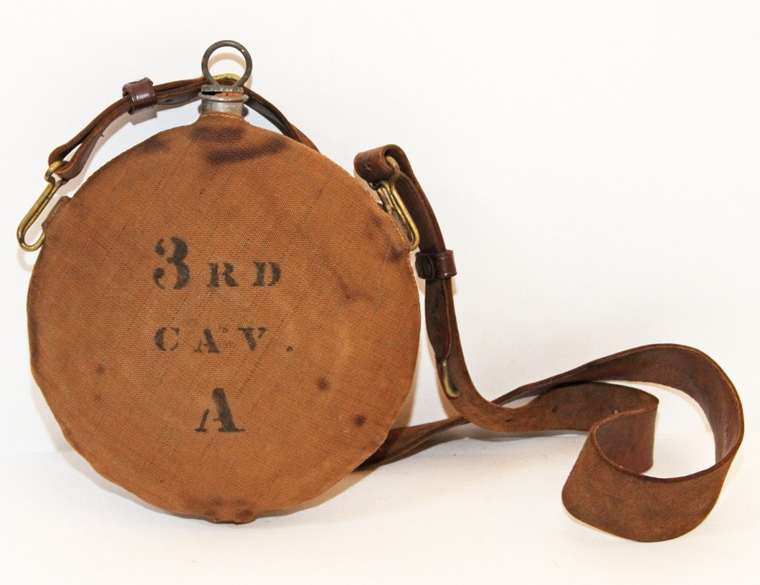 35: INDIAN WARS CANTEEN WITH LEATHER SLING