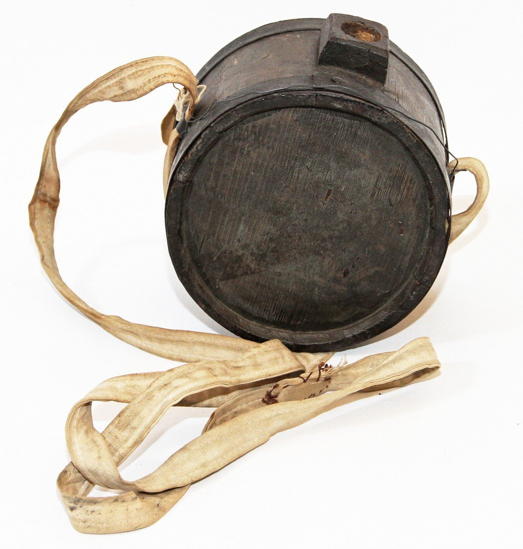 39: PRE CIVIL WAR WOOD CANTEEN WITH PROVENANCE