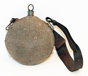 CLOTH COVERED MILITARY CANTEEN
