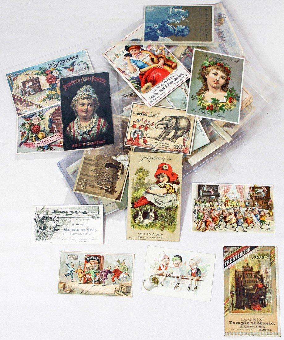 454: LOT OF VICTORIAN TRADE CARDS