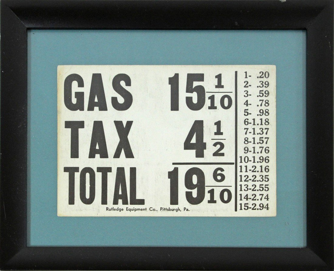 468: C-1910 GAS STATION PRICE CARD