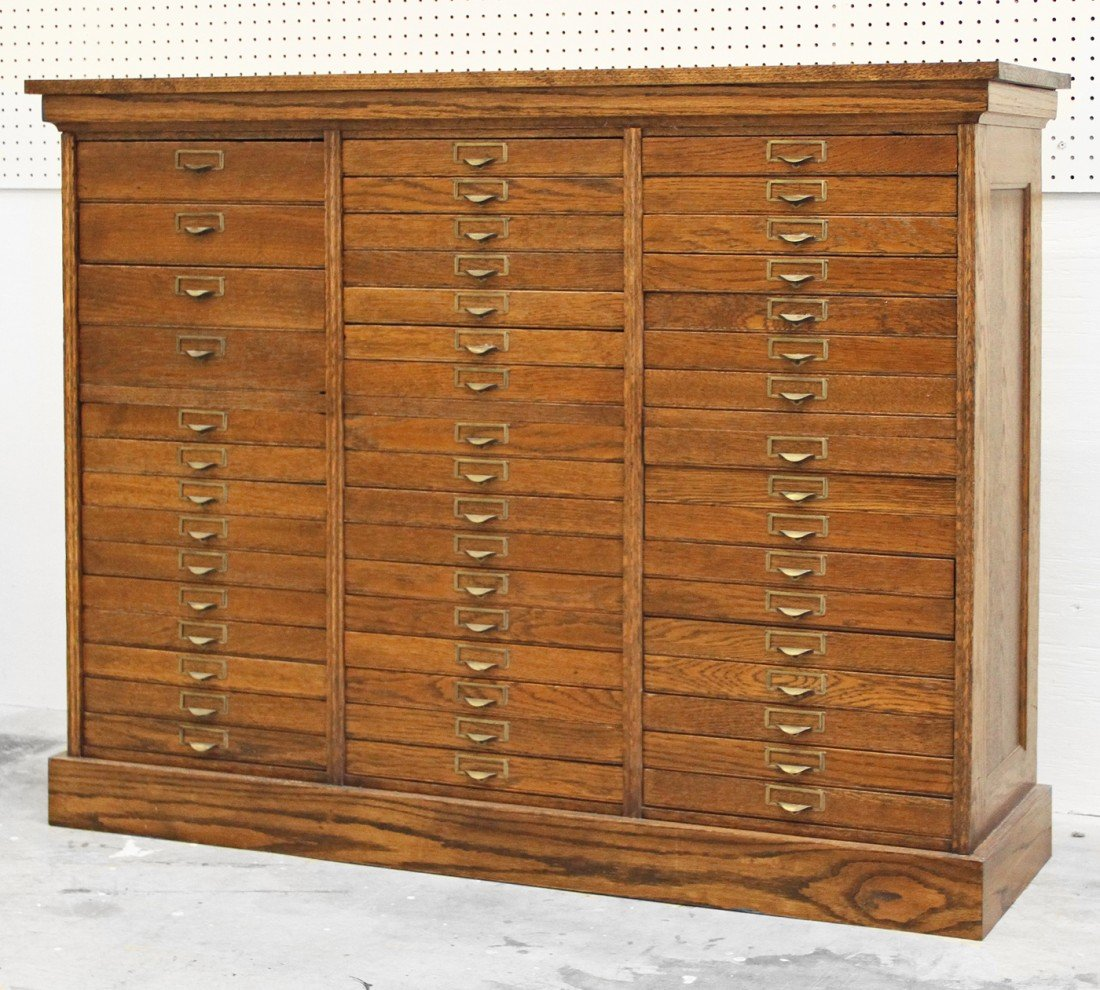 553: OAK SPECIMEN CABINET WITH 48 DRAWERS - 5