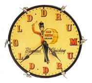 683 OLD DRUM BLENDED WHISKEY CLOCK