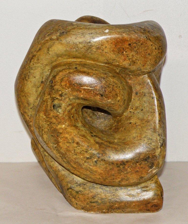 30: MODERN ART SOAPSTONE SCULPTURE - 2