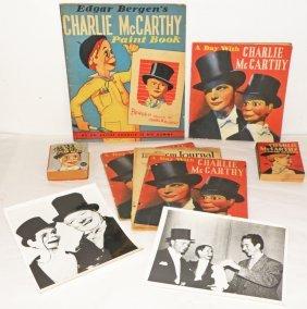 NINE PIECE CHARLIE MCCARTHY LOT