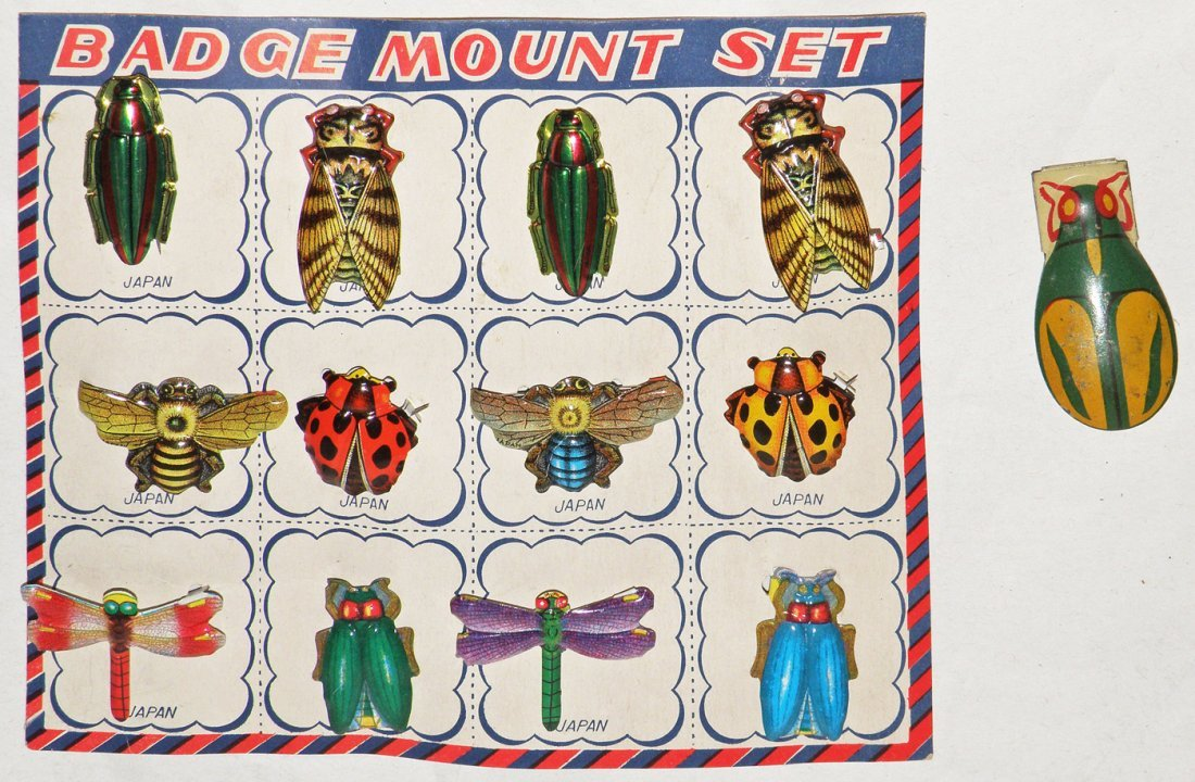 104: N.O.S. CARD OF JAPANESE INSECT PINS