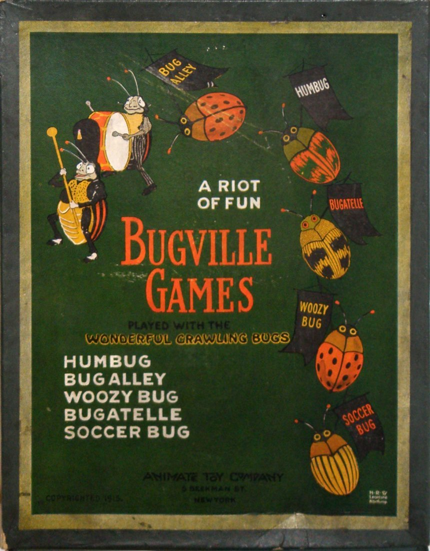 105: RARE BOXED ANIMATE TOYS BUGVILLE GAMES