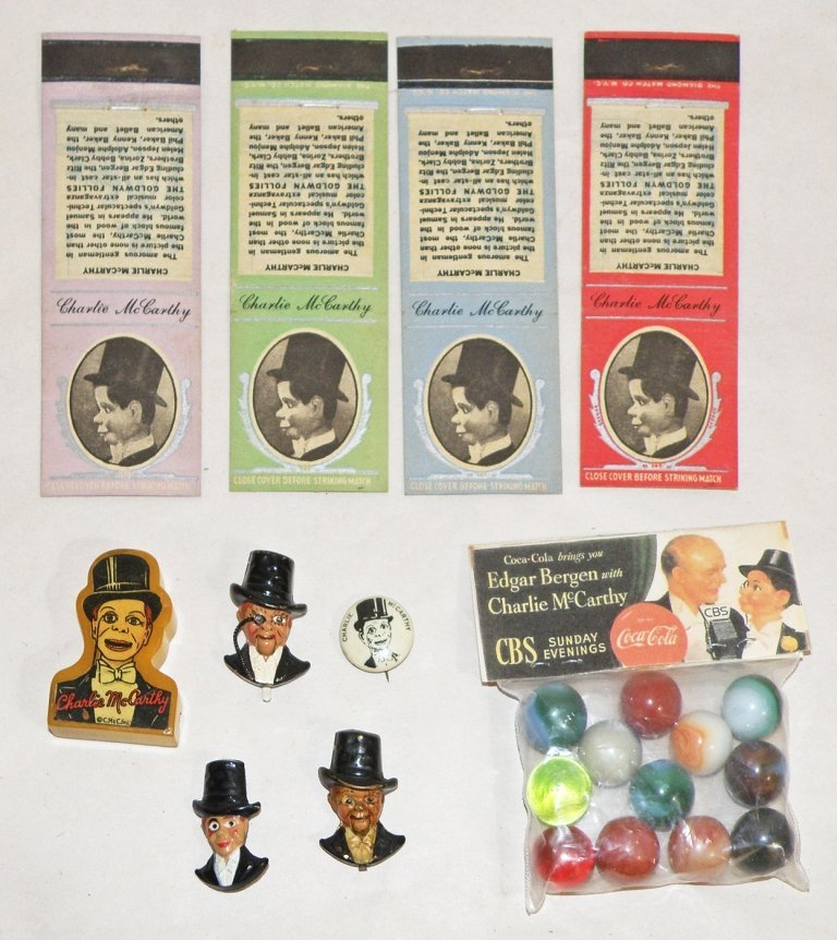 112: TEN PIECE CHARLIE MCCARTHY COLLECTION
