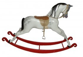 LARGE WOOD ROCKING HORSE BY HADDON ROCKERS