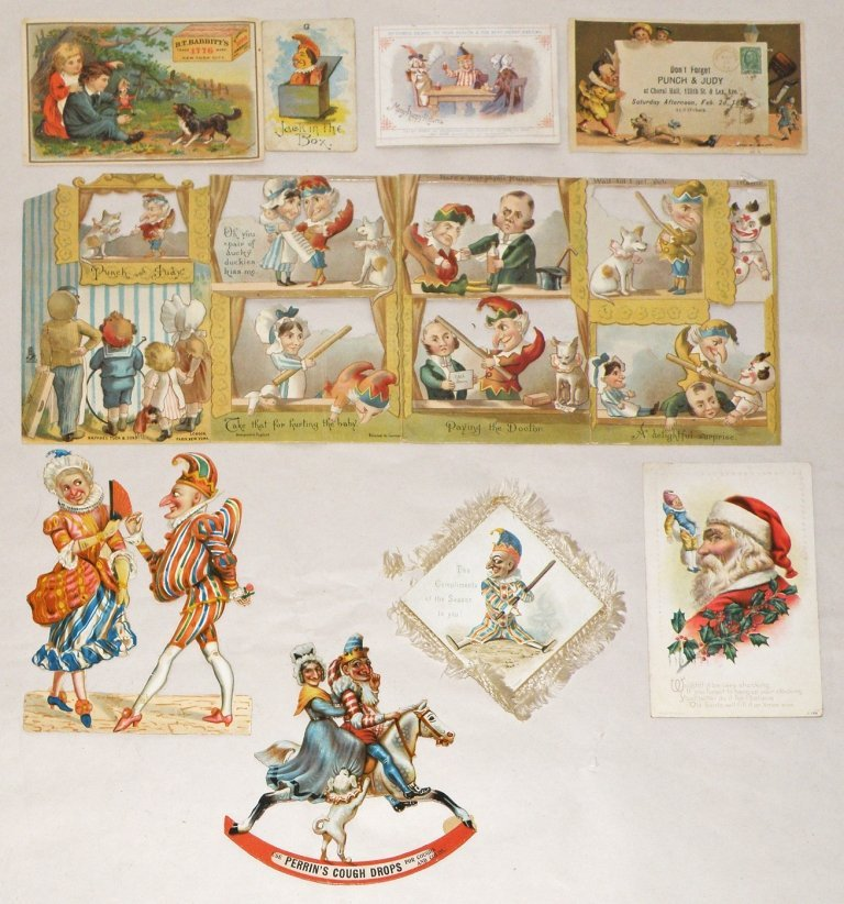 193: NINE PUNCH & JUDY PAPER ITEMS