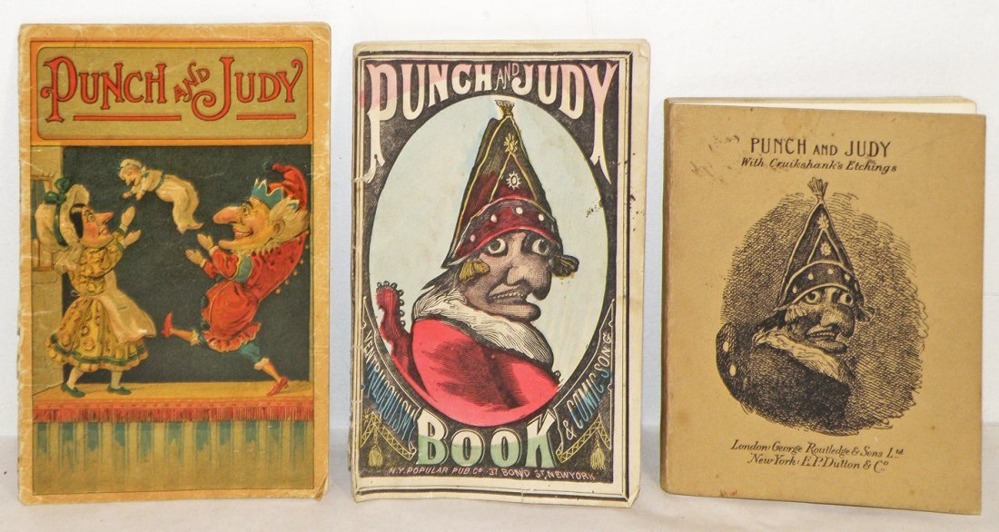 199: THREE OLD PUNCH & JUDY BOOKS