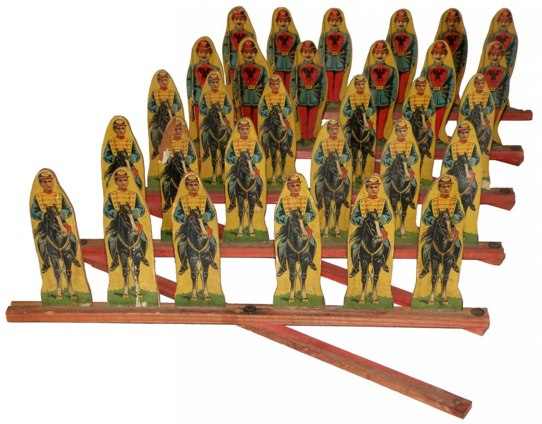 235: SET OF PAPER ON WOOD SOLDIERS BY REED