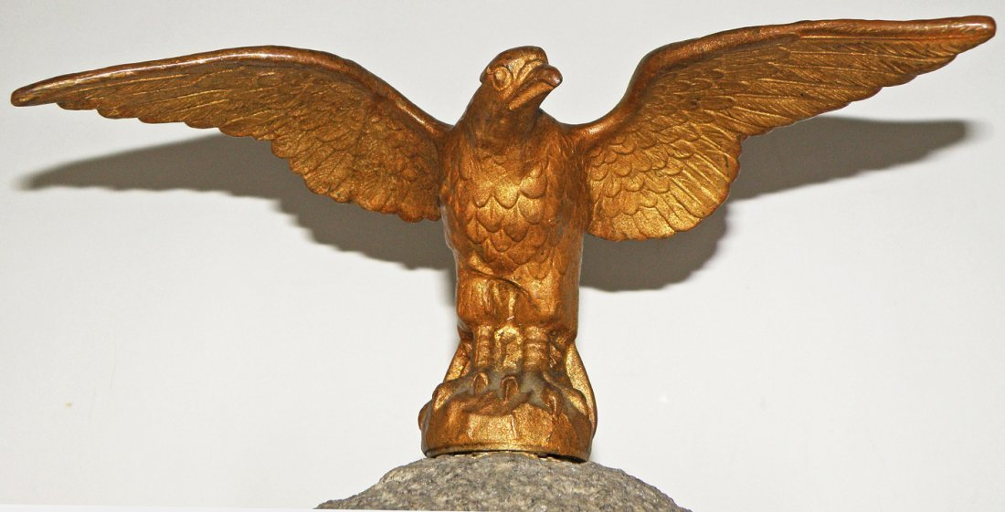 340: TWO 19TH CENTURY EAGLE FLAGPOLE FINIALS - 3