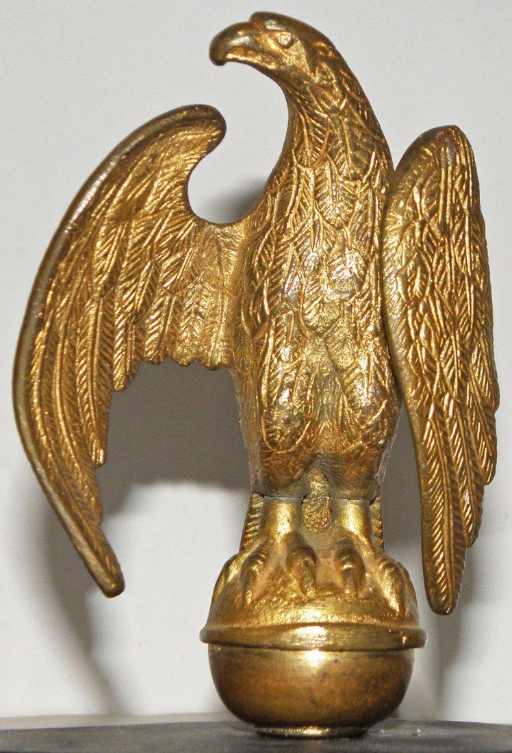 340: TWO 19TH CENTURY EAGLE FLAGPOLE FINIALS - 4