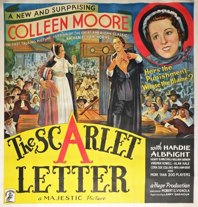 """476: SIX SHEET MOVIE POSTER """"THE SCARLET LETTER"""""""
