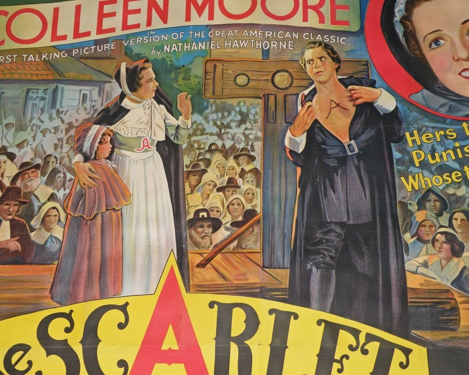 """476: SIX SHEET MOVIE POSTER """"THE SCARLET LETTER"""" - 2"""