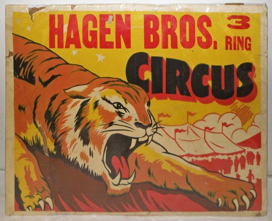 513: THREE HAGEN BROS CIRCUS POSTERS - 2