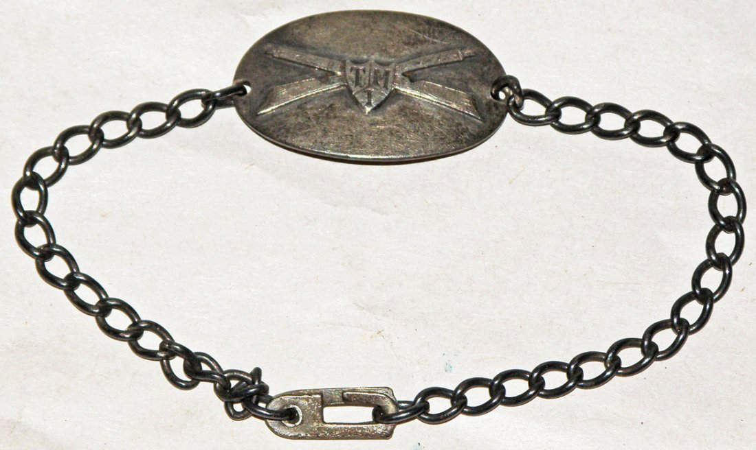 20: TEXAS MILITARY INSTITUTE STERLING SILVER BRACELET