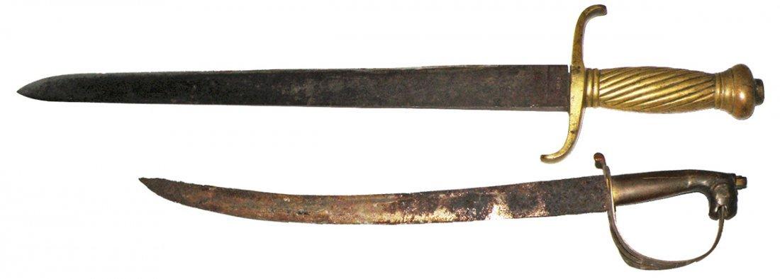 73: BRASS HILT SHORT SWORDS