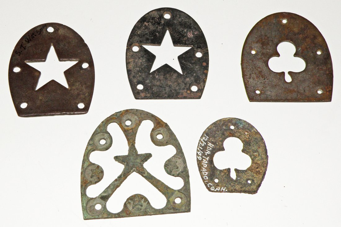 87: CIVIL WAR BOOT HEEL PLATES WITH CORPS BADGES
