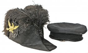 TWO 19TH CENTURY NAVAL HATS
