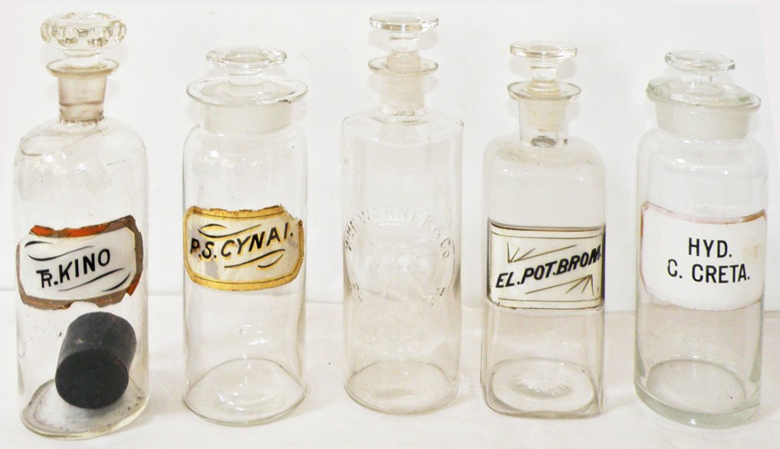 251: LOT 19TH CENTURY APOTHECARY BOTTLES