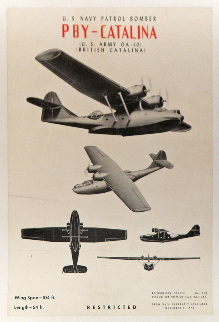 252: WWII AIRCRAFT RECOGNITION POSTER