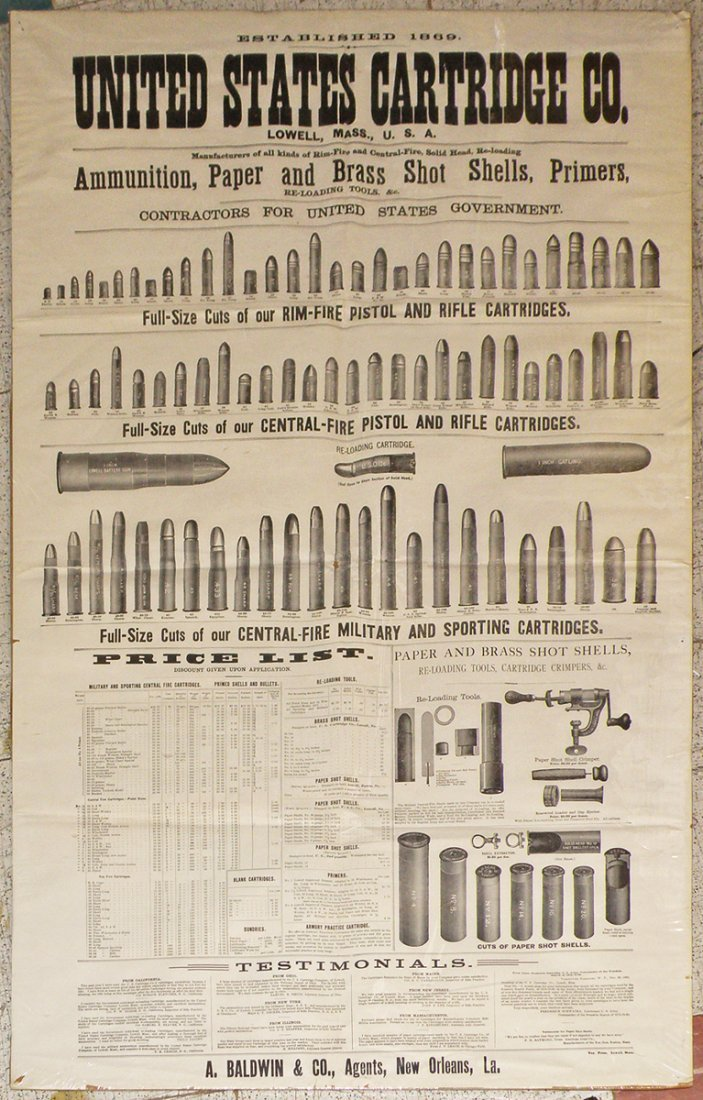 253: 19TH CENTURY UNITED STATES CARTRIDGE CO. POSTER