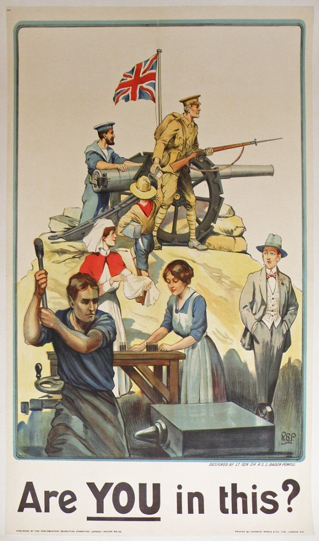 261: BRITISH WWI RECRUITING POSTER