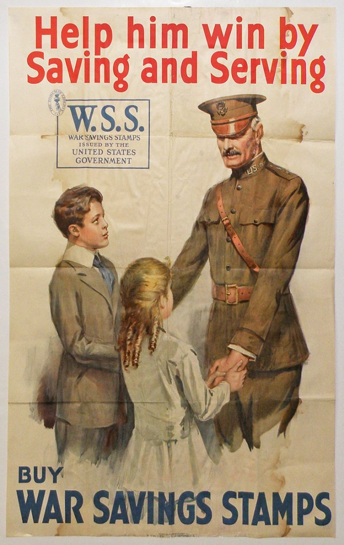 264: WWI WAR SAVINGS STAMPS POSTER