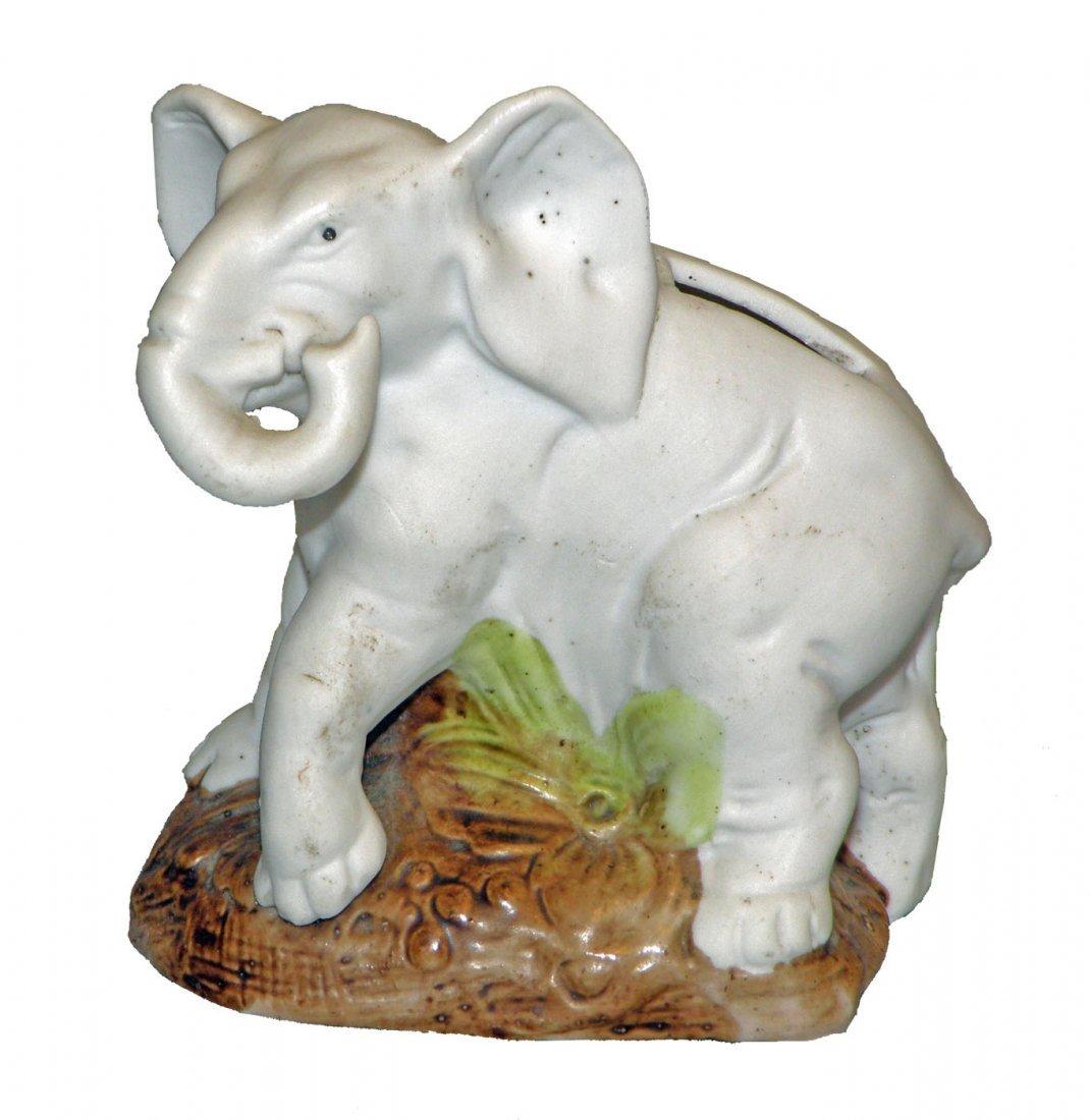 6: BISQUE ELEPHANT STILL BANK
