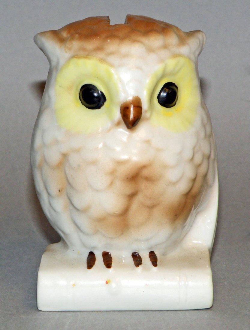 7: PORCELAIN BABY OWL STILL BANK