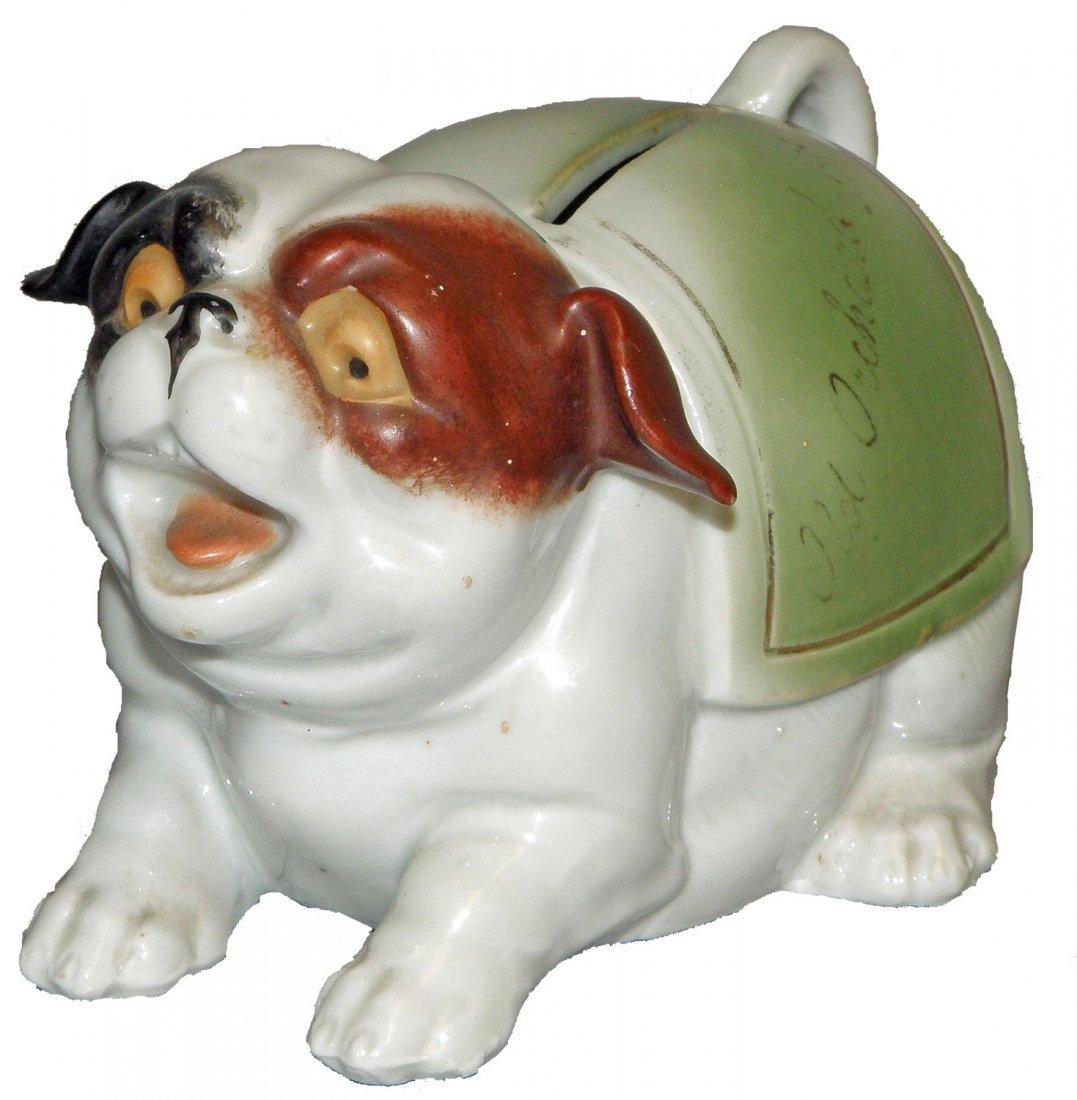 18: BARKING DOG PORCELAIN STILL BANK