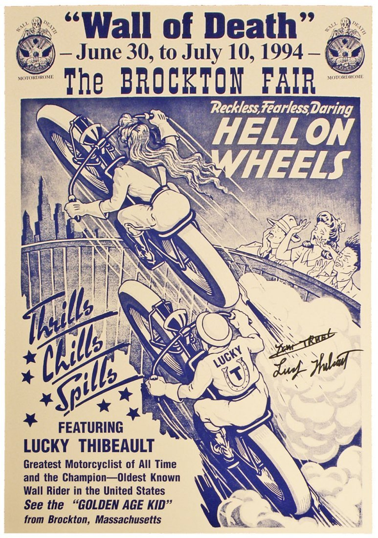 612: WALL OF DEATH MOTORCYCLE STUNT POSTER