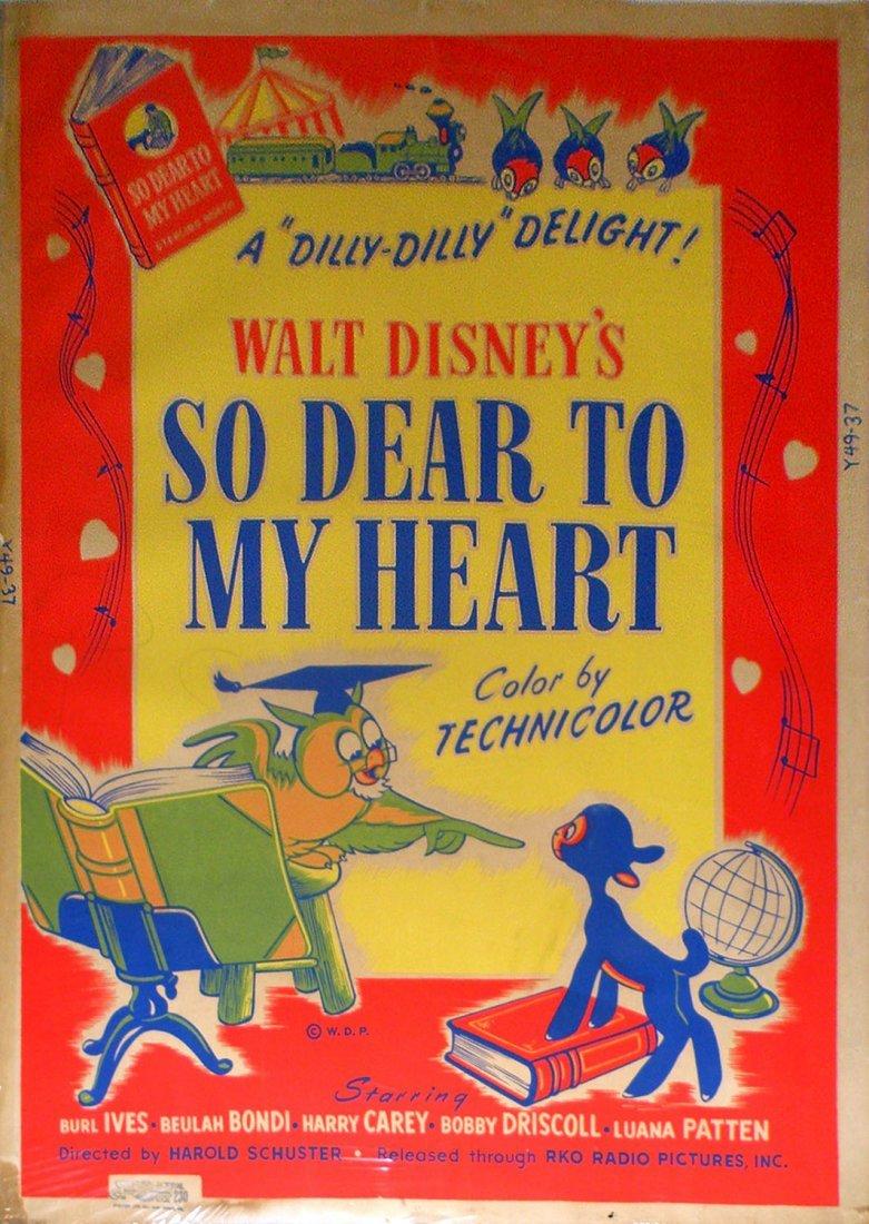 "646: WALT DISNEY ""SO DEAR TO MY HEART"" MOVIE POSTER"