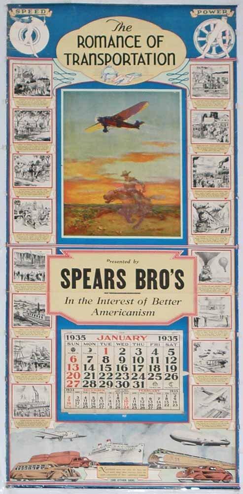 1935 TRANSPORTATION CALENDAR