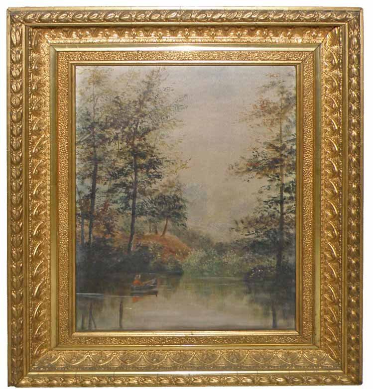 SMALL 19TH CENTURY OIL PAINTING