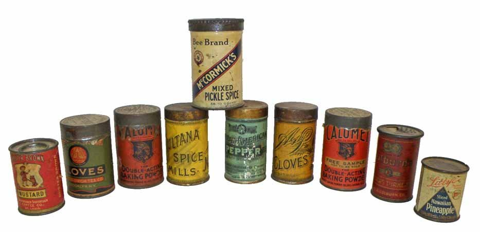 TEN MISC SMALL TINS