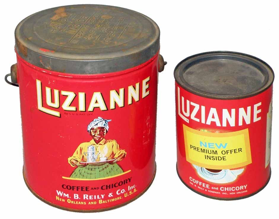 TWO LUZIANNE COFFEE TINS