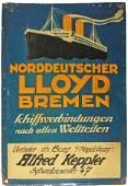 NORTH GERMAN LLOYD BREMEN STEAMSHIP SIGN
