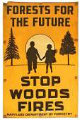 MARYLAND DEPARTMENT OF FORESTRY TIN SIGN