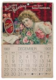 1901 HILDA CLARK COCA-COLA CALENDAR