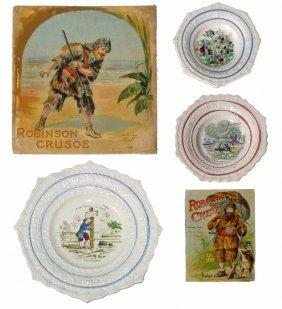 ROBINSON CRUSOE BOOKS & CHILDREN'S PLATES