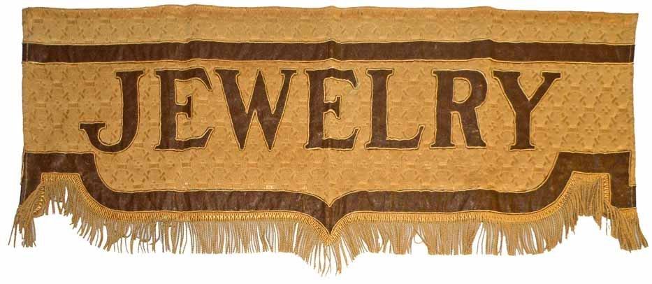 1920s JEWELRY STORY WINDOW VALANCE