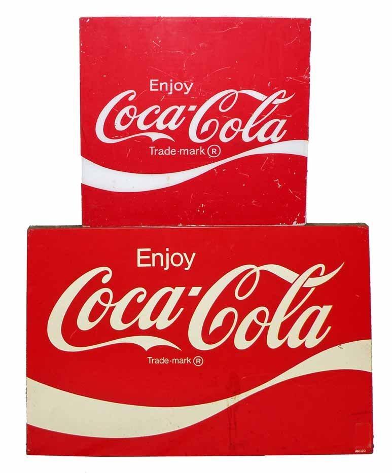 TWO COCA COLA SIGNS