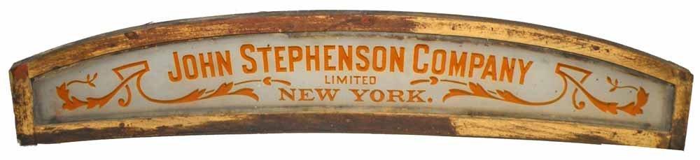 TRANSOM SIGN JOHN STEPHENSON COMPANY, NEW YORK