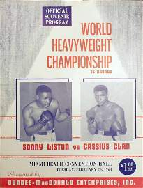 CASSIUS CLAY AND SONNY LISTON OFFICIAL PROGRAM