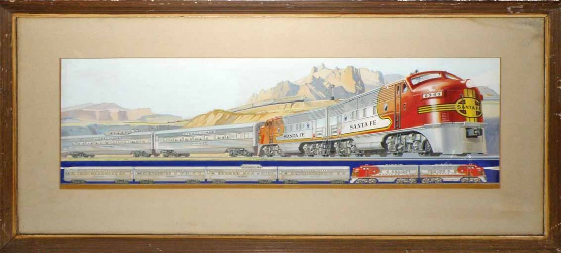 RARE ORIGINAL LIONEL TRAIN CATALOG ART
